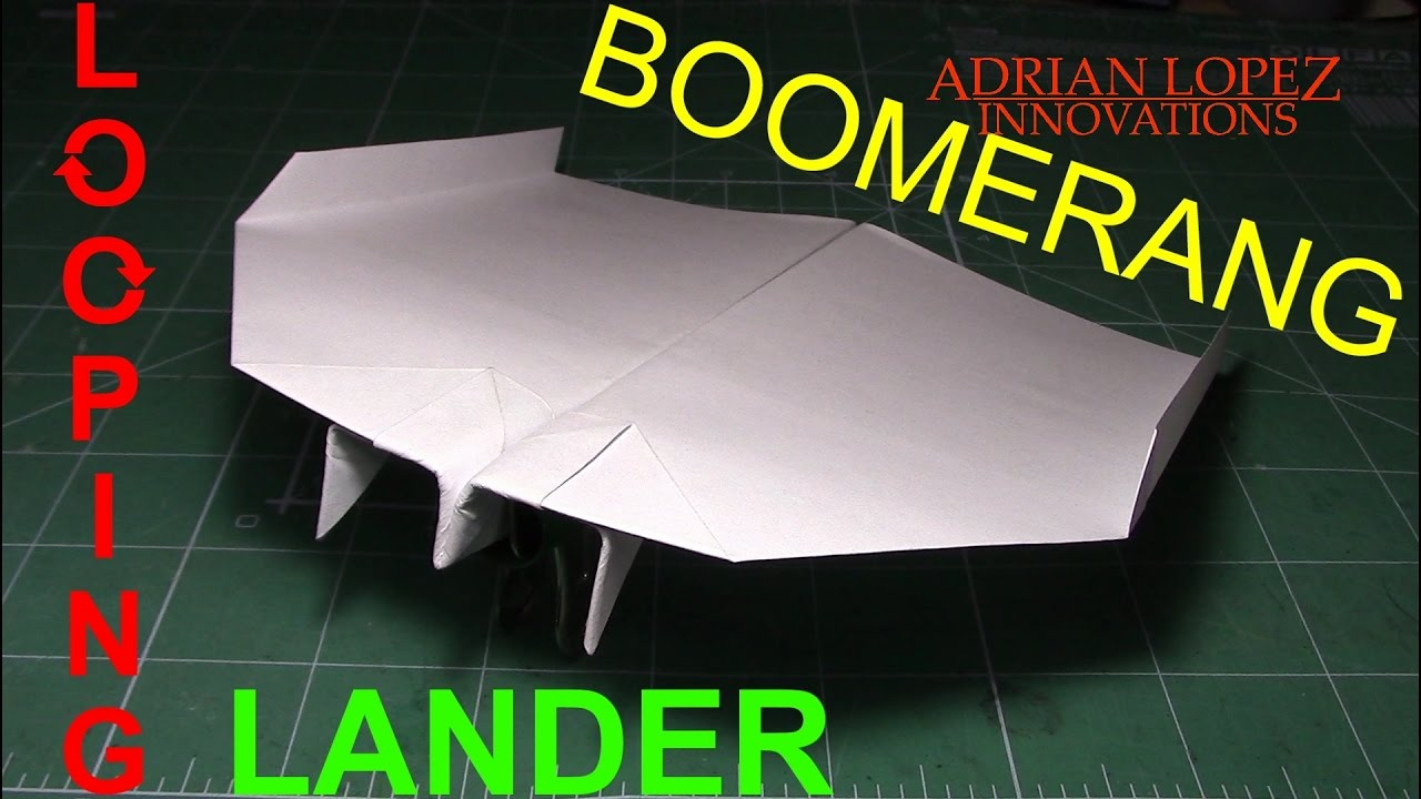 How to make a boomerang airplane step by