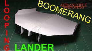 How To Make an Easy Boomerang Paper Airplane: Looping Lander