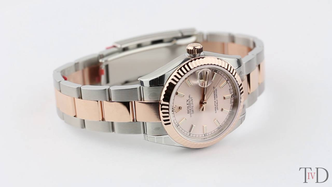 Rolex Datejust Lady 31mm Steel Rose Gold Pink Indexes Oyster 178271 T4d Watch Review