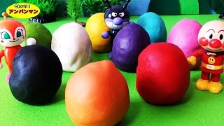 Anpanman egg clay❤Anpanman toys anime Anpanman Surprise Eggs