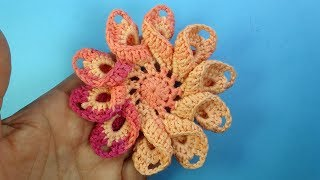 Нереально краcивые вязаные цветы Crochet flower tutorial Урок 97
