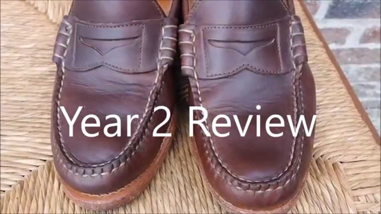 5ce5841fac Rancourt   Co. Beefroll Penny Loafer Shoe - 2 year review - YouTube