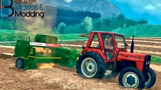 Repeat youtube video Balling small square bales in UTH v5 map [ South-east Slovenia - dolenjska ]