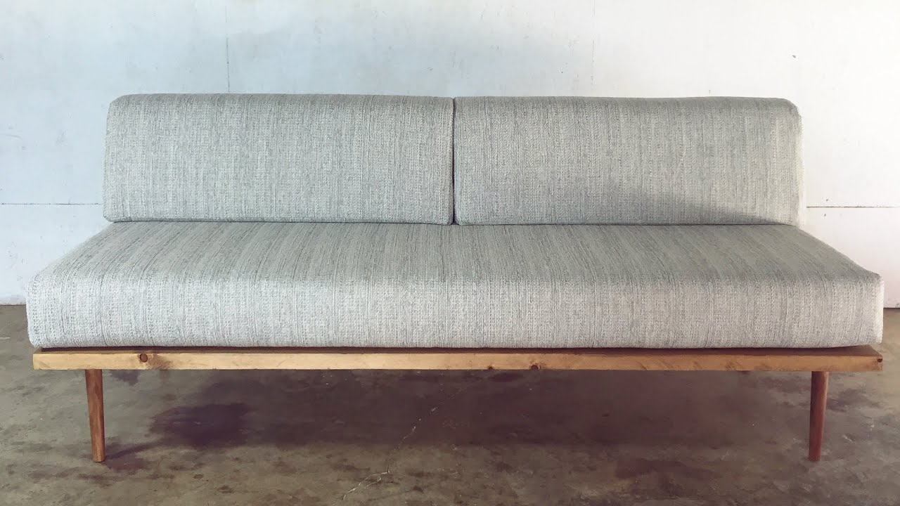 DIY Mid Century Modern Sofa | Modern Builds | EP. 27   YouTube