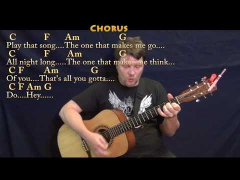 Play That Song (Train) Strum Guitar Cover Lesson in C with Chords/Lyrics
