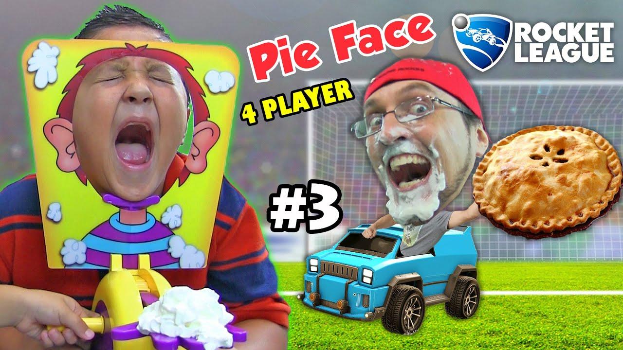 Pie Face Challenge Game W Let S Play Rocket League Part 3