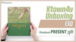 "Unboxing EXO Photobook ""PRESENT ;gift"" エクソ 엑소 포토북 언박싱 Kpop Ktown4u thumbnail"