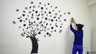 Diy How To Make  Beautiful 3d  Wall Decoration Tree 02| Neelam Singh