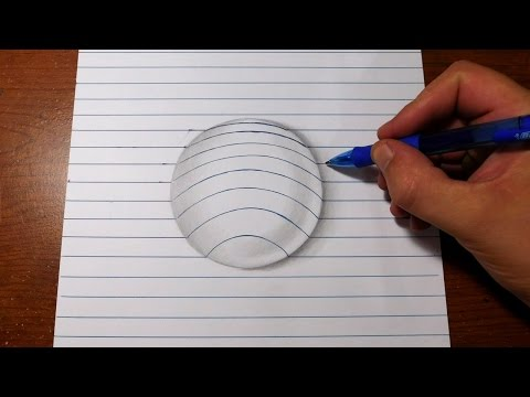 Thumbnail: How to Draw 3D Art - Easy Line Paper Trick