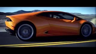 суперкар Lamborghini Huracan LP 610 4, 2014 крутая реклама HD