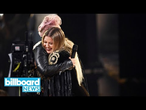 AMAs 2017: P!nk & Kelly Clarkson Perform R.E.M.'s 'Everybody Hurts' | Billboard News