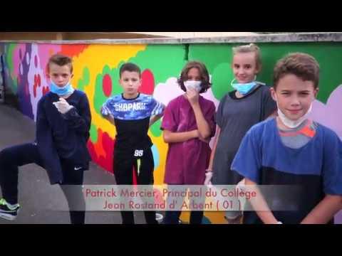 Un mur en couleur au Collège Jean Rostand (01)