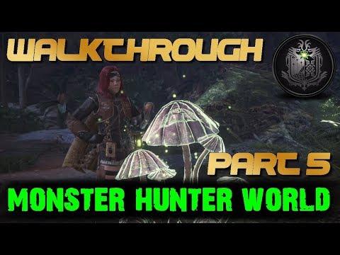 Monster Hunter World - LIVRER CHAMPIGNON DÉLICAT -  Walkthrough Gameplay Part 5 (MHW) Français