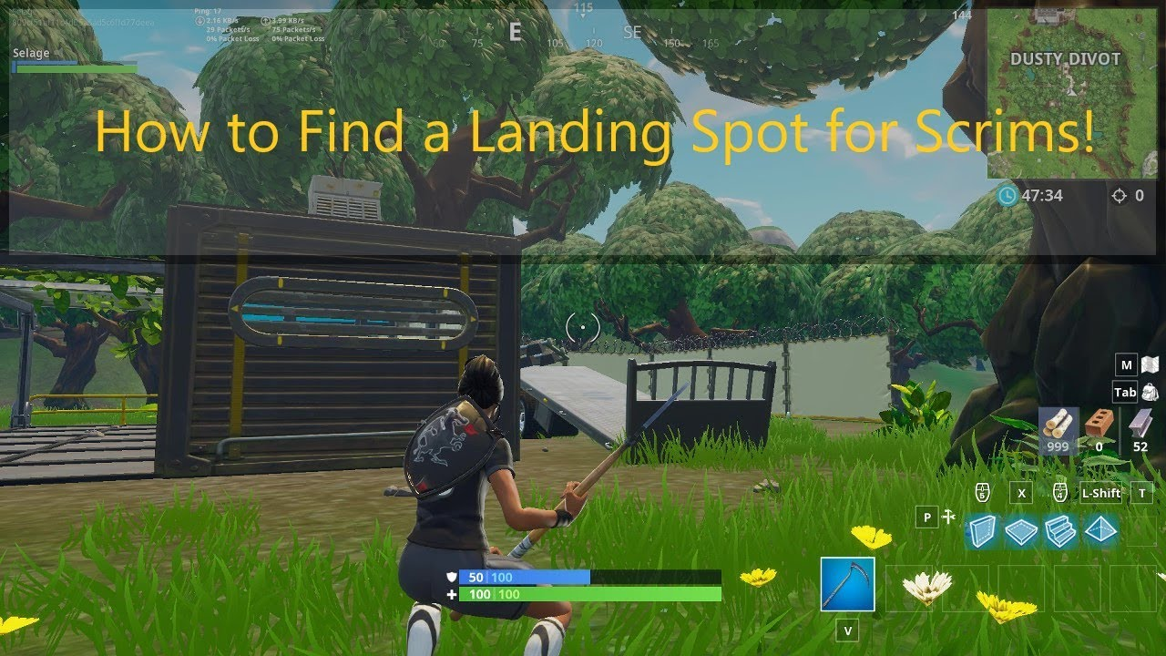 how to choose a landing spot for scrims in fortnite battle royale - best place to land in scrims fortnite
