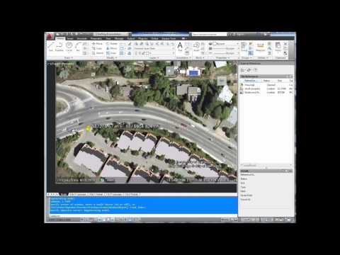 AutoCAD Tutorial; Insert, georeference google earth image