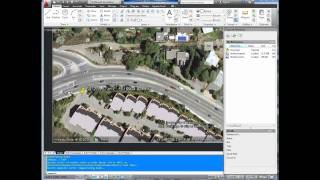 Autocad Tutorial; Insert, Georeference Google Earth Image