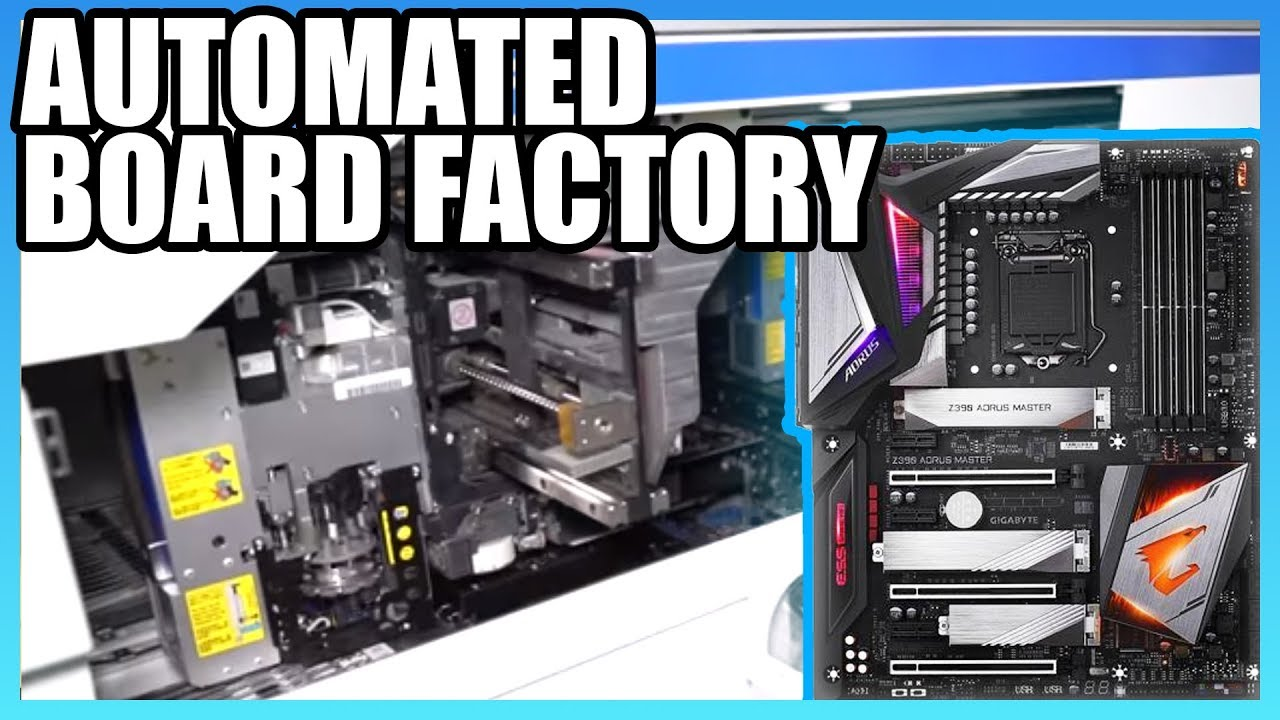 How Motherboards Are Made (2019) | Taiwan Automated Factory Tour, ft   Gigabyte