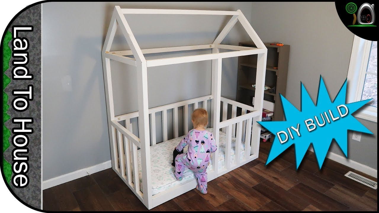 Build A Toddler House Bed Frame Youtube