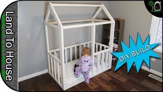 Build a Toddler House Bed Frame