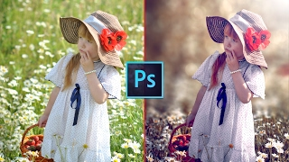 Photoshop CC Tutorial - Fantasy Look Photo Effect Editing  Bokeh Background