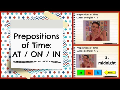 Prepositions of Time: At / On / In