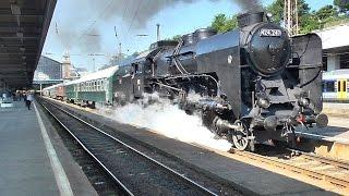 424-es indul a Nyugatiból / Classic hungarian steam locomotive / Nostalgiezug mit Dampflokomotive