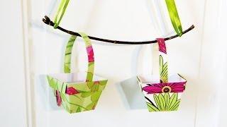 HD / TUTO : Faire un panier en papier - Make a basket paper Origami