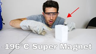 Giant Monster Neodymium Magnet VS Liquid Nitrogen = Super Magnet!