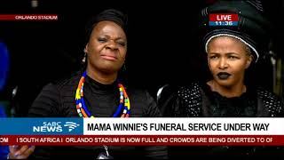 Thandiswa Mazwai delivers tribute in song to Mama Winnie