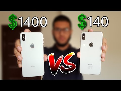 ايفون اكس ماكس التقليد ! Fake iPhone Xs Max ! 😮 فرق بسيط...