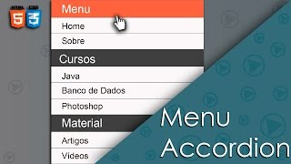 Tutorial: Menu Accordion com HTML e CSS (sem javascript)