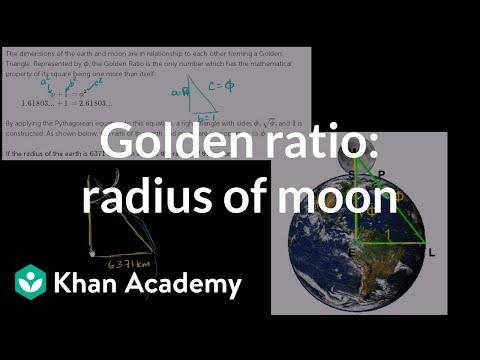 Golden ratio to find radius of moon | Similarity | Geometry | Khan Academy