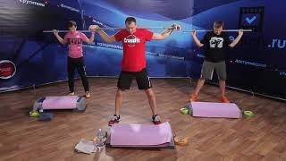 СИЛОВЫЕ тренировки с Реутовыми на timestudy.ru УРОК 10 Ноги / Руки / Пресс