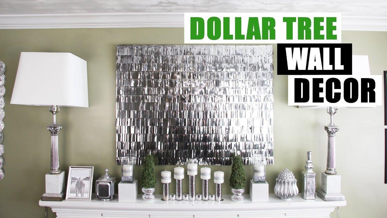 Diy Dollar Tree Fringe Wall Decor Faux Mirror Like Art Glam Home