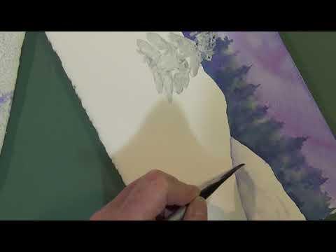 Easy Winter Landscape in Watercolor