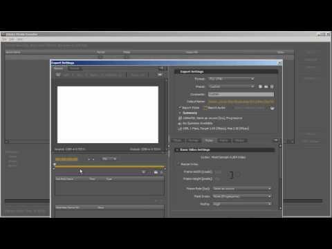 Adobe Media Encoder Tutorials - AVI to F4V