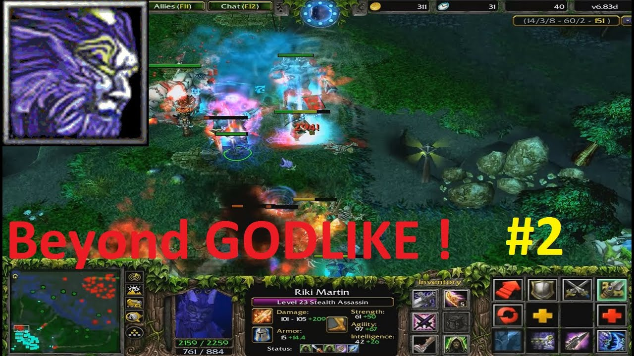 Dota 6 83d Rikimaru Stealth Assassin Beyond Godlike 2 Youtube