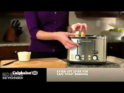 Calphalon Brushed Stainless Steel 4 Slice Toaster At Bed Bath Beyond Youtube