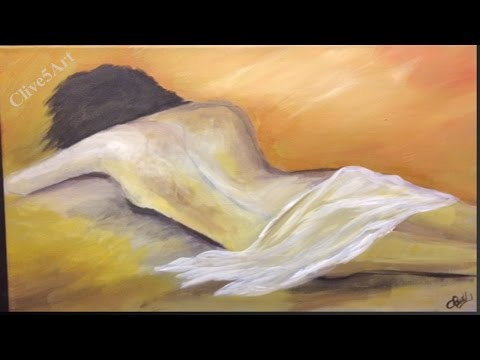 Life Study made Easy, Acrylic painting for beginners,#clive5art