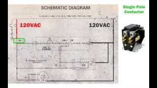 HVAC condenser - how to read AC schematic and wiring diagram - air  condition howto - YouTubeYouTube