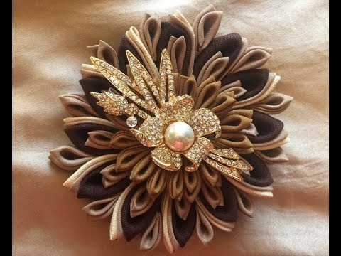 Diy How To Make Fabric Flower Brooch Step By Step
