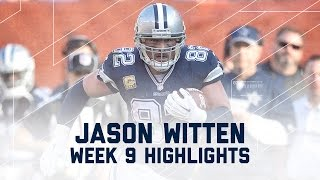 Jason Witten's 100+Yard Receiving Day ! | Cowboys vs. Browns | NFL Week 9 Player Highlights