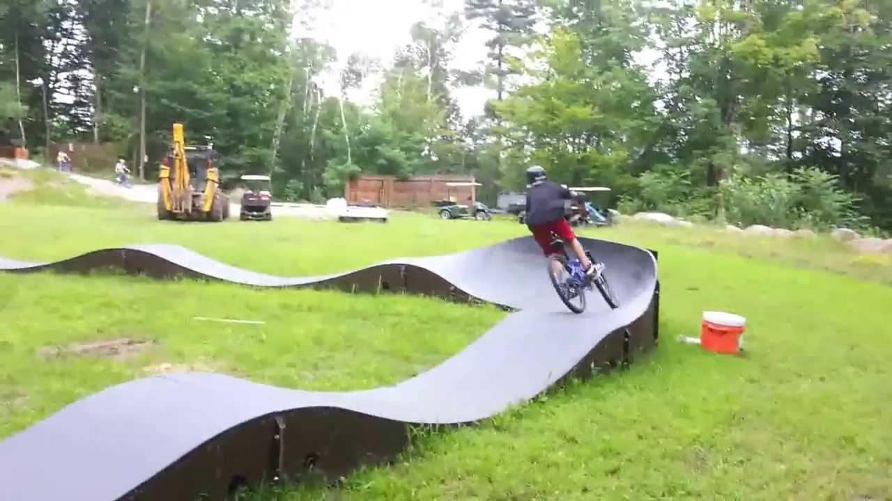 camp walden pumptrack diamond point ny youtube