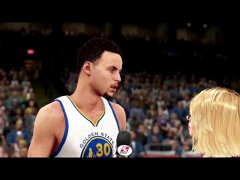 NBA 2K16 - Philadelphia 76ers vs Golden State Warriors (Updated Rosters)