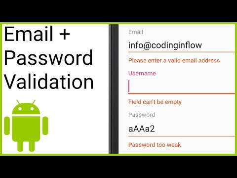 Code for validating email address in java