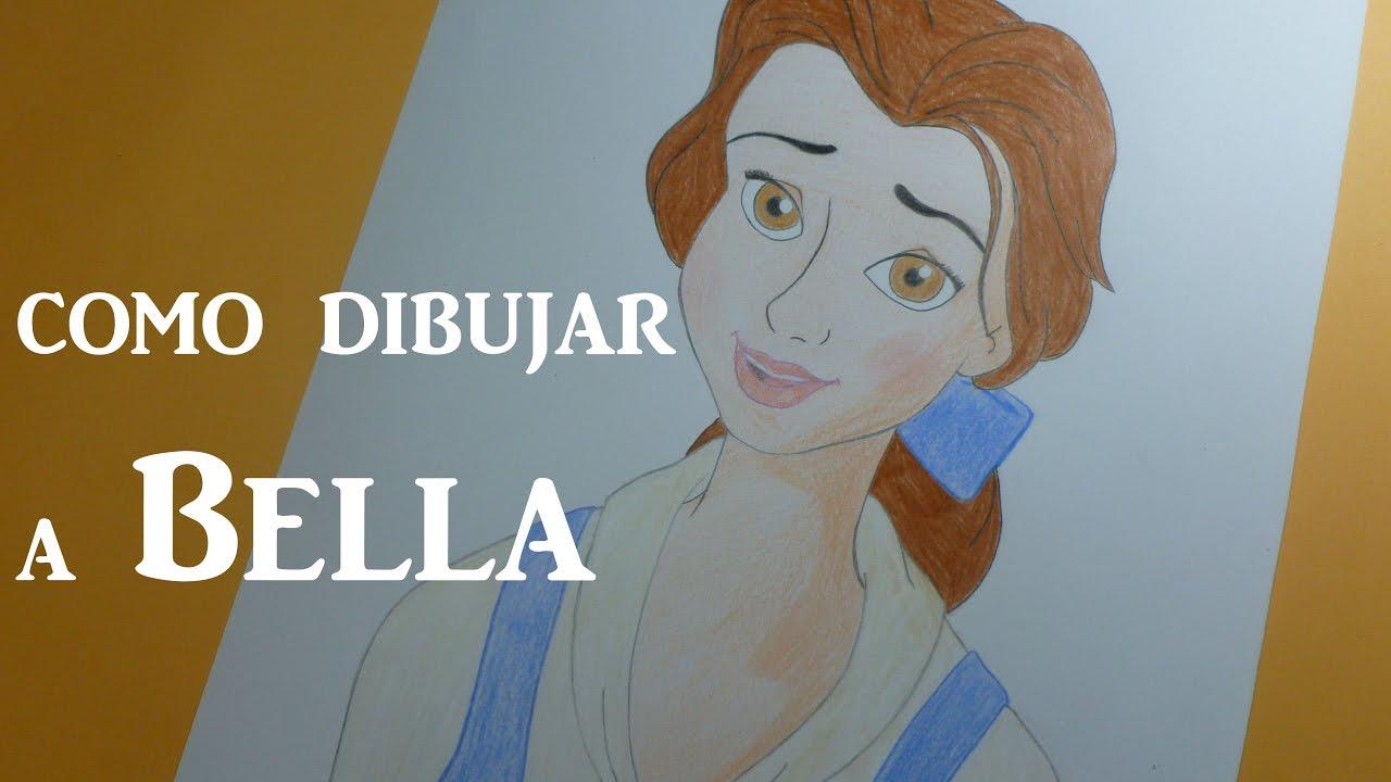 Como dibujar/pintar a Bella paso a paso (La Bella y la Bestia de ...
