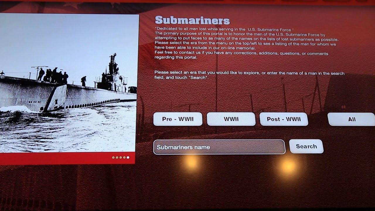USS Bowfin Museum Info kiosk application by NOVENA