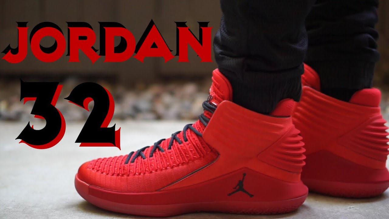 9e05ef96bfa969 Air Jordan 32 XXXII Rosso Corsa red on feet review - YouTube
