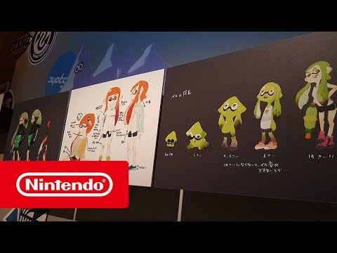 Mr Nogami and Mr Takahashi discuss the making of Splatoon at the V&A Museum