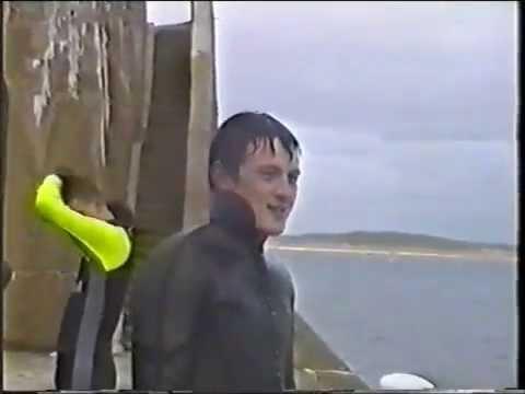 Fraserburgh / Broch jumping in harbour 1992
